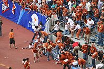 Partial stadium collapse at Big12 college football championship - 2005.JPG