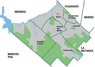 Merlo Partido - Cities: Merlo, San Antonio de Padua, Parque San Martín, Mariano Acosta, Libertad and Pontevedra