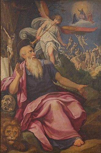 Herr Jesu Christ, wahr' Mensch und Gott, BWV 127 - S. Gerome and the trumpet of the last Judgement, oil painting by Pasquale Catti