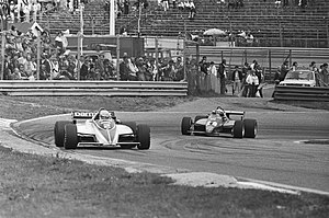 Brabham BT50 - Patrese dueling with Didier Pironi's Ferrari at the Dutch Grand Prix