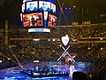 Patrick Kane's entrance at the 2016 NHL All-Star Game (24150997493).jpg