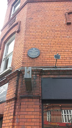 Photo of Patrick Kavanagh brown plaque