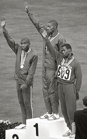 Henry Carr - Henry Carr (center) at the 1964 Olympics