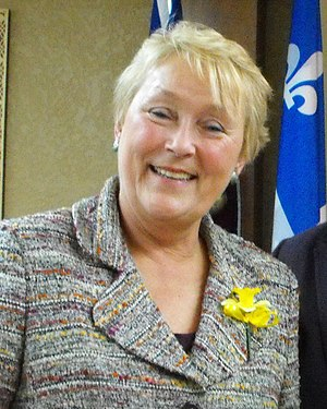 Pauline Marois, the current Leader of the Offi...
