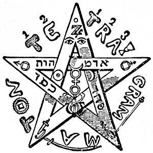 Eliphas Levi - Éliphas Lévi's Tetragrammaton pentagram, which he considered to be a symbol of the microcosm, or human being