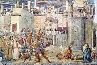 Benedetto Bonfigli - Totila's Siege of Perugia, Benedetto Bonfigli, Galleria Nazionale dell'Umbria