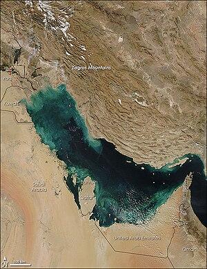 Persian Gulf Basin - Satellite picture of the Persian Gulf