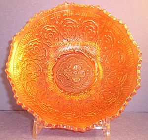 Fenton Art Glass Company - Persian Medallion in marigold