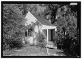 Perspective view looking to front porch - Snee Farm, Servant's House, 1240 Long Point Road, Mount Pleasant, Charleston County, SC HABS SC-87-A-6.tif