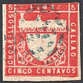 Peru 1870 Sc19 used blue cancel.jpg
