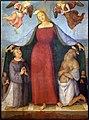 Perugino, madonna della misericordia coi ss. lorenzo, girolamo, angeli e committenti, 1512-13 (pinacoteca di bettona) 01.jpg