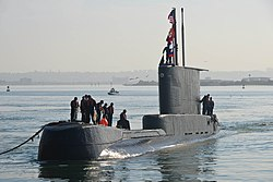 Peruvian submarine BAP Pisagua (SS-33) arrives at the U.S. Naval Base Point Loma on 7 July 2017.JPG