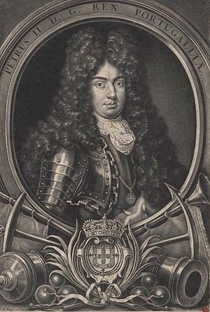 Peter II of Portugal - Engraving by Christopher Elias Heiss, c. 1683–1703