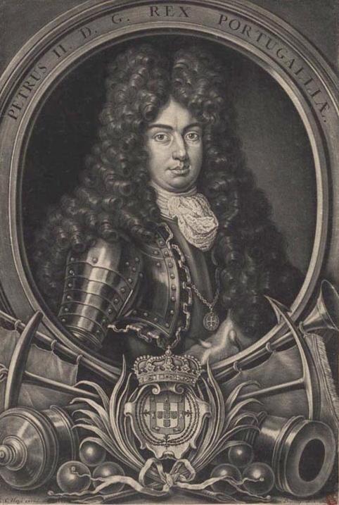 Peter II of Portugal engraving