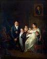 Peter und Elisabeth de Weerth mit Friedrich August (1804–1879), Ernst Eugen (1807–1869), Emilie Elisabeth (1810–1847) und Werner (1809–1859), 1812.png