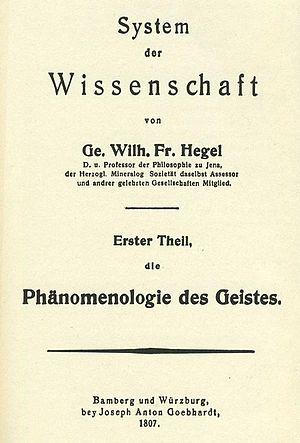 The Phenomenology of Spirit - Image: Phänomenologie des Geistes