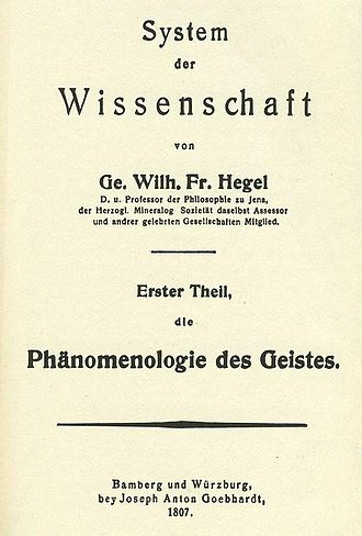 The Phenomenology of Spirit - Image: Phänomenologie des Geistes