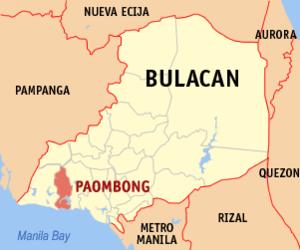 Raid at Paombong - Image: Ph locator bulacan paombong