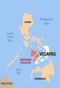 Map of the Philippines showing the location of Region VI