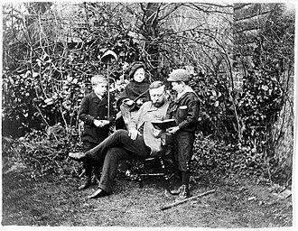 Sir Thomas Barlow, 1st Baronet - Thomas Barlow with his three sons, ca 1890. Wellcome Library