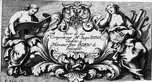 Jacques Bittner - Title page of Bittner's Pièces de lut, published in Nuremberg, 1682