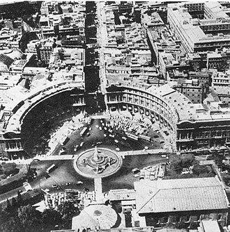 Piazza della Repubblica, Rome - Aerial view of the Piazza