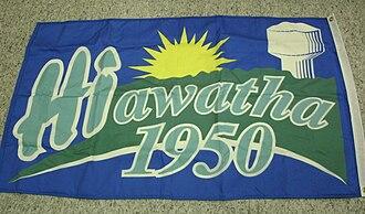 Hiawatha, Iowa - Image: Picture of the Hiawatha Iowa flag