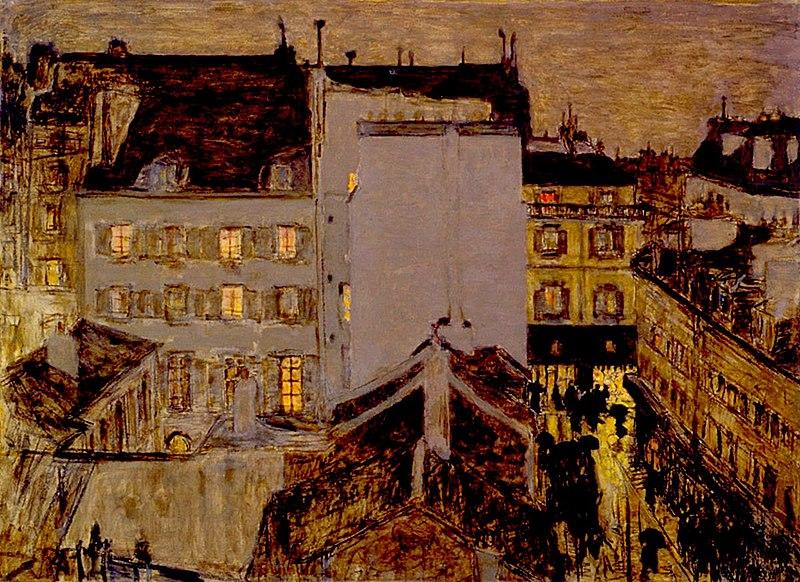 Fichier:Pierre Bonnard, 1897 - Montmartre sous la pluie.jpg