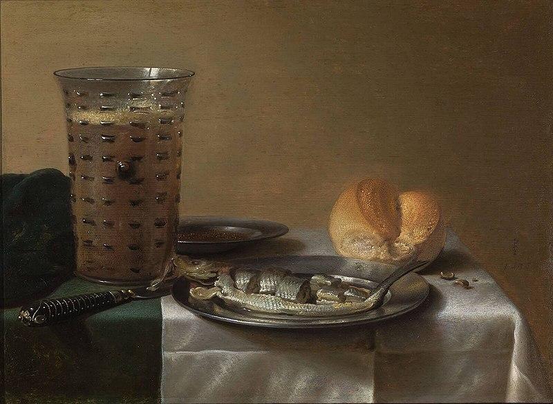 File:Pieter Claesz - Herring with bread and beer - 1122 (OK).jpg