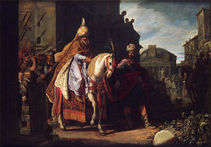 Purim - The Triumph of Mordechai, painting by Pieter Pietersz Lastman