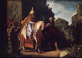 Purim - The Triumph of Mordechai, painting by Pieter Pietersz Lastman