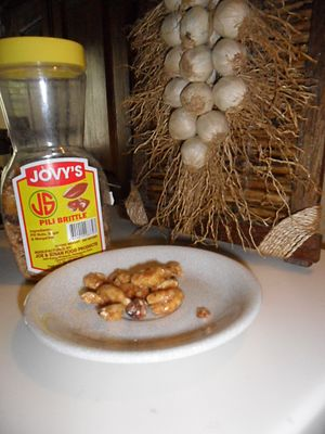 Canarium ovatum - Pili brittle, made from Canarium ovatum nuts, sugar, and margarine.