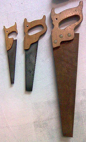 Hand saw - Different sizes of handsaws.