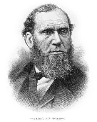 Baltimore Plot - Portrait of Allan Pinkerton from Harper's Weekly, 1884