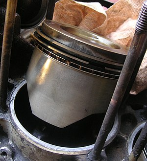 Piston ring - Spring-loaded piston rings.