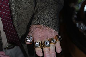 The Pittsburgh Steelers five Super Bowl rings