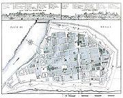 Karte von Manila 1851