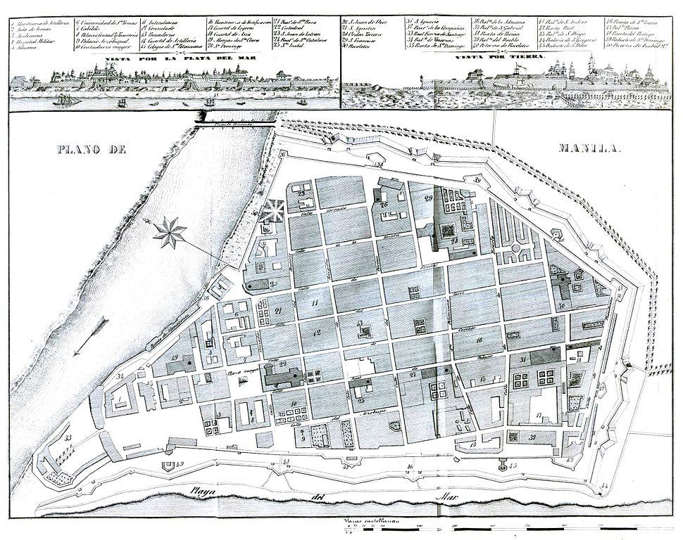 Plano de Manila 1851