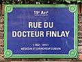 Plaque de la rue du Docteur Finlay (Paris).jpg