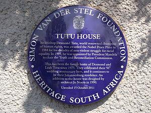 Benedict Wallet Vilakazi - Tutu's house in Vilakazi Street
