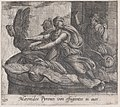 Plate 127- Anius's Daugthers Changing into Birds (Maeonides Pyrenei vim effugientes in aves), from Ovid's 'Metamorphoses' MET DP866532.jpg