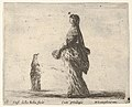 Plate 18- a noblewoman walking towards the left with a feathered fan, another woman in background to left, from 'Diversi capricci' MET DP833183.jpg