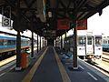 Platform of Tokushima Station.JPG