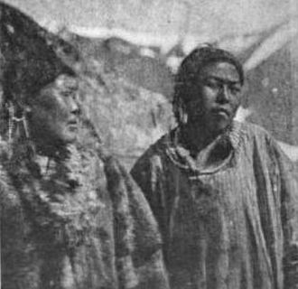 Providence Bay - Two native women of Plover Bay, photographed by E.W. Nelson of the Corwin in 1881