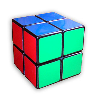 Combination puzzle - Image: Pocket cube solved
