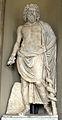 Poggio imperiale, facciata, loggia, esculapio, forse opera di età severiana (mano e qualche frammento di restauro) 2.jpg