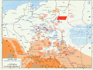 Romanian Bridgehead - Polish and German forces after 14 September 1939 and troop movements after this date