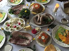 Polish Easter table
