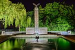 Polish War Memorial at Night front view.jpg