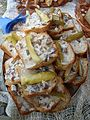 Polish bread with pork lard, Sanok 2010.jpg